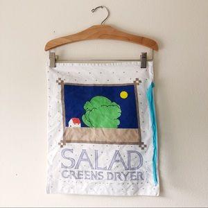 Vintage 1987 Lillian Vernon drawstring salad bag
